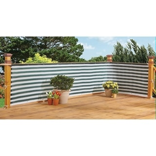 Flexible Outdoor Water Proof Two-Toned Privacy Deck Fence