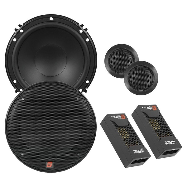 """Cerwin Vega XED Mobile Series 6.5"""" 2-Way Component Speaker System 300W Max"""