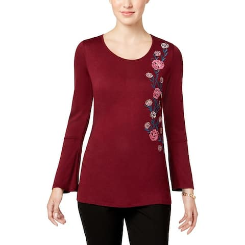 28ab9256335 Buy Red 3/4 Sleeve Shirts Online at Overstock | Our Best Tops Deals