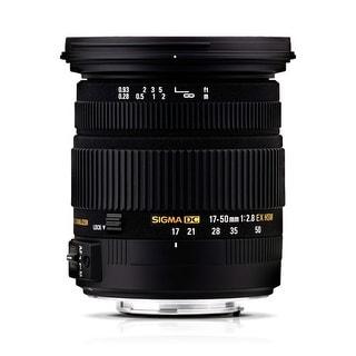 Sigma 17-50mm f/2.8 EX DC OS HSM Zoom Lens for Nikon DSLRs with APS-C Sensors - Black