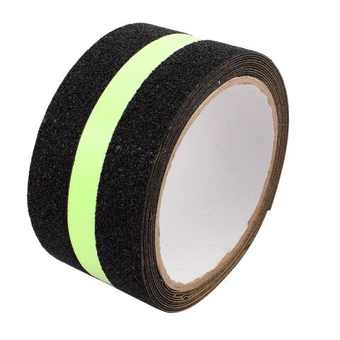 Black Anti-Slip Grip Tape Glow-in-Dark for Local Illumination 50mmx5m