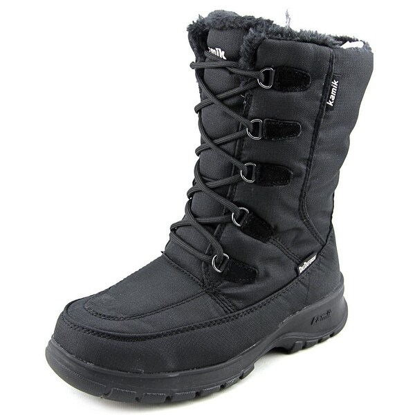 Kamik Brooklyn Women Round Toe Synthetic Black Snow Boot