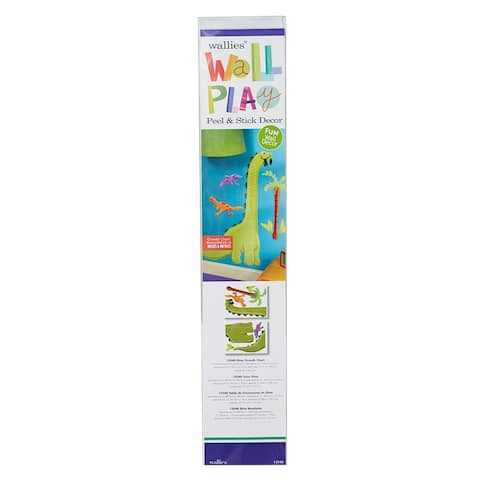 Dino Growth Chart Vinyl Mural - One Size