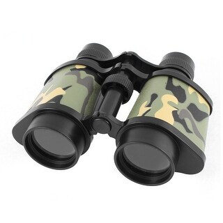 Unique Bargains Plastic Transparent Lens Hang Strap Adjustable Binocular Camouflage Color