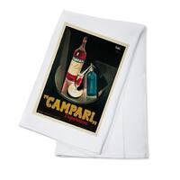 Campari l'aperitivo (Nizzoli) Vintage Poster  (100% Cotton Towel Absorbent)