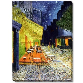 Vincent Van Gogh 'Cafe Terrace at Night' Hand Painted Oil Reproduction