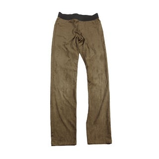 Inc International Concepts Bronzed Camel Faux-Suede Pull-On Skinny Pant 1