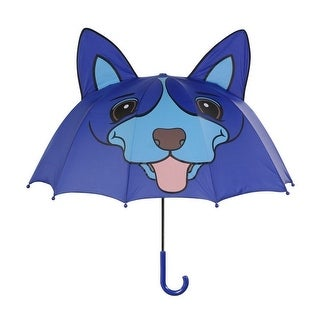 Boys Blue Child Size Lightweight Ears Dog Umbrella