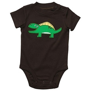 Carter's Baby Boys' Brown Happy Dinosaur Bodysuit - Newborn