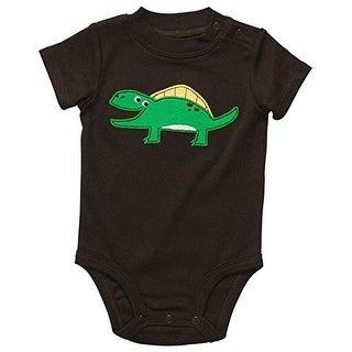 Carter's Baby Boys' Brown Happy Dinosaur Bodysuit - Newborn