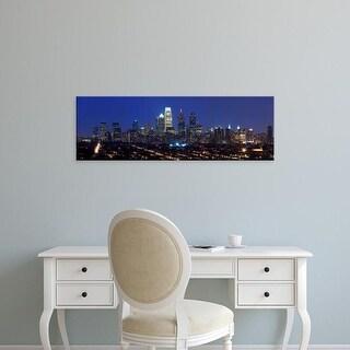 Easy Art Prints Panoramic Image 'Comcast Center, Center City, Philadelphia, Pennsylvania' Canvas Art