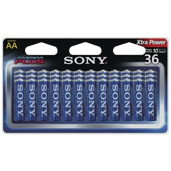 Sony S-Am3B36A Stamina(R) Plus Alkaline Batteries (Aa; 36 Pk)