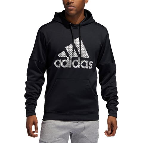 Adidas Mens Hoodie Activewear Fitness - Black