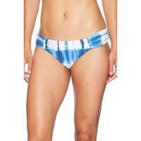 Lucky Brand Blue Womens Size Small S Tie-Dye Bikini Bottom Swimwear