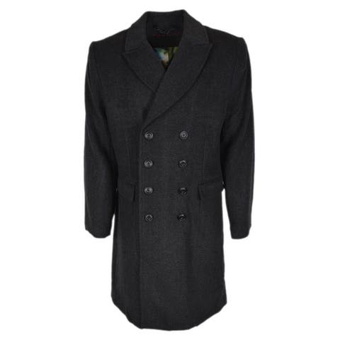 Robert Graham Men's THE FAMILY MAN Grey Wool Blend Woven Coat Jacket