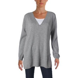 Soft Joie Womens Pullover Sweater Heathered Side Slits - l