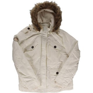 U.S. Polo Assn. Womens Juniors Sherpa Lined Hooded Parka