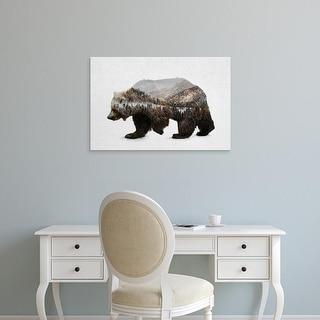 Easy Art Prints Davies Babies's 'The Kodiak Brown Bear' Premium Canvas Art