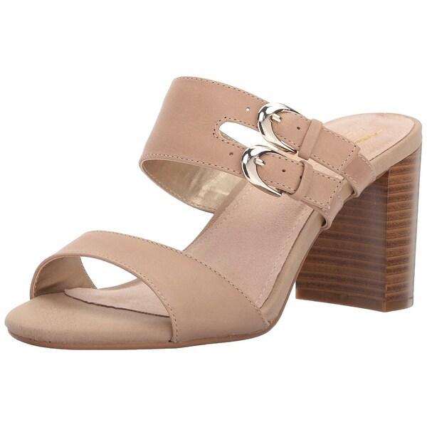 Aerosoles Womens Heroism Leather Open Toe Casual Slide Sandals