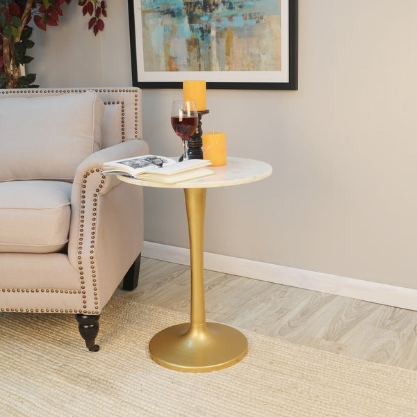 Luna Marble Top Accent Table