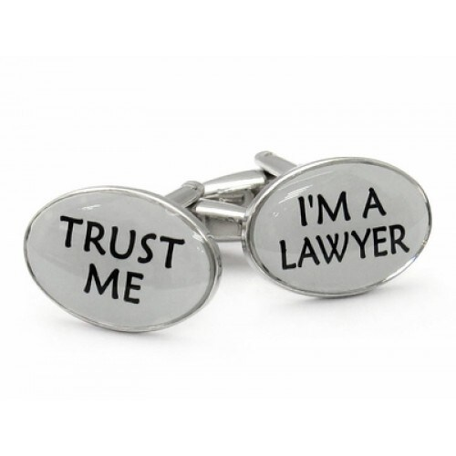 Trust Me Lawyer Attorney Law Career Cufflinks