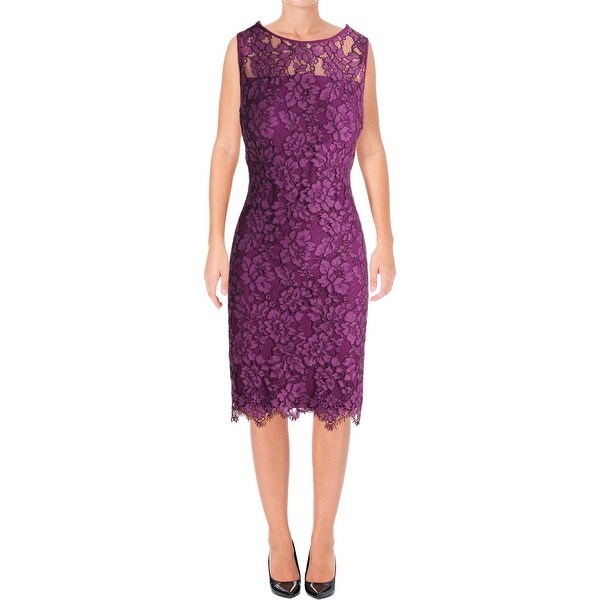 Lauren Ralph Lauren Womens Cocktail Dress Lace Sleeveless