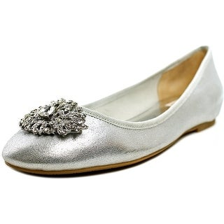 Badgley Mischka Abella II   Round Toe Leather  Ballet Flats