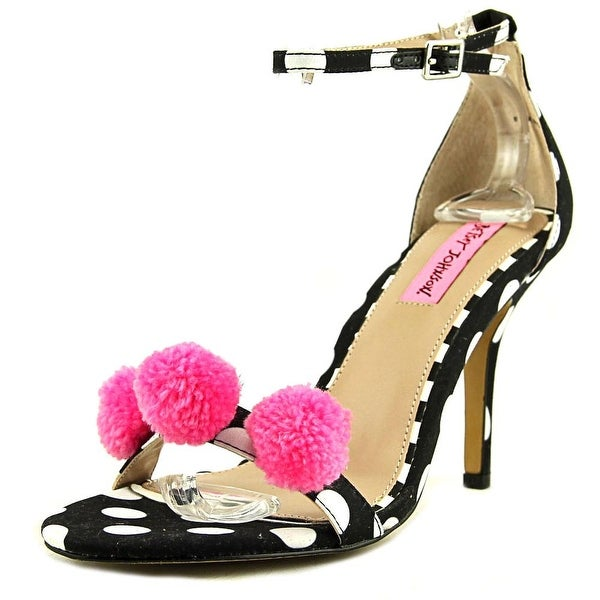 Betsey Johnson Lylly Women Open-Toe Canvas Multi Color Heels