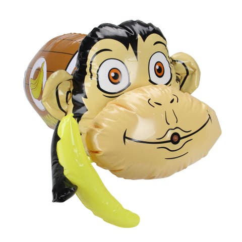 "20"" Inflatable Monkey in Banana Barrel Water Blaster - N/A"