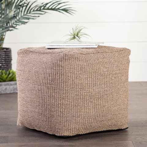 Jonasson Solid Tan Indoor/ Outdoor Pouf