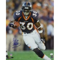 Terrell Davis Autographed Denver Broncos 16x20 Photo Blue JSA