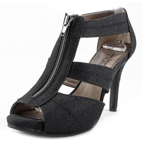 Moda Jasper Women Open Toe Synthetic Black Sandals