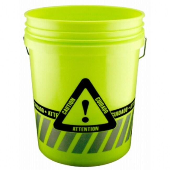 Leaktite 05GXCA01020 Reflective Caution Bucket, 5 Gallon
