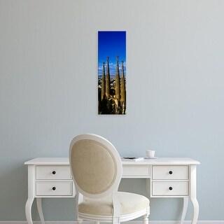 Easy Art Prints Panoramic Image 'Towers Of Basilica, Sagrada Familia, Barcelona, Catalonia, Spain' Canvas Art