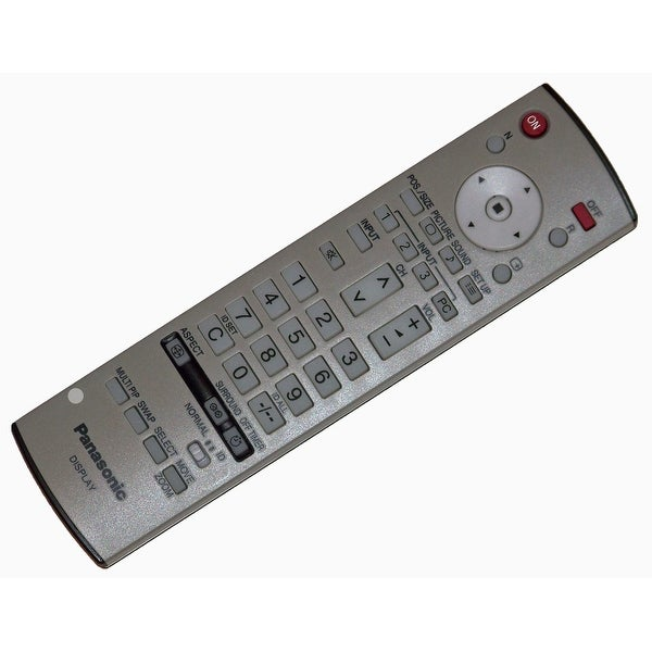 OEM Panasonic Remote Control Originally Shipped With: TH37PWD8GK, TH-37PWD8GK, TH37PWD8GKJ, TH-37PWD8GKJ