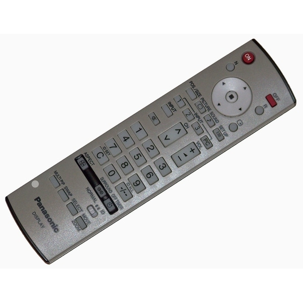 OEM Panasonic Remote Control Originally Shipped With: TH42PWD8K, TH-42PWD8K, TH42PWD8RK, TH-42PWD8RK