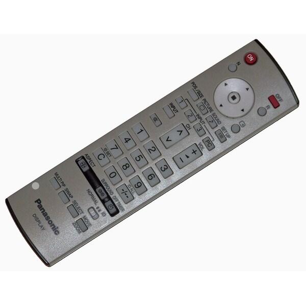 OEM Panasonic Remote Control Originally Shipped With: TH42PWD8UKJ, TH-42PWD8UKJ, TH42PZ700U, TH-42PZ700U