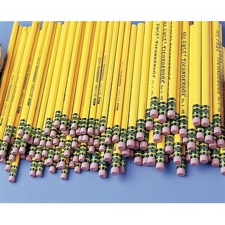 Ticonderoga My First Anti-Microbial Beginner Non-Toxic Pencil with Latex-Free Eraser, 13/32 in, No 2 Tip, Yellow, Pack of 12