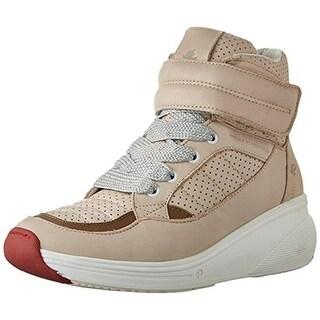Pajar Womens Beverly Hills Leather Metallic Laces Fashion Sneakers - 9 medium (b,m)