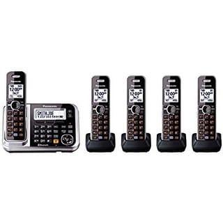 Panasonic KX-TGF383M DECT 6.0 3-handset Bluetooth Landline Telephone with Corded Base Unit (Refurbished)