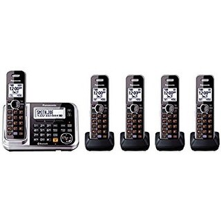 Panasonic KX-TGF383M DECT 6.0 3-handset Bluetooth Landline Telephone with Corded Base Unit (Refurbished)