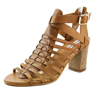 Steve Madden Stellaah Women Open Toe Leather Tan Sandals