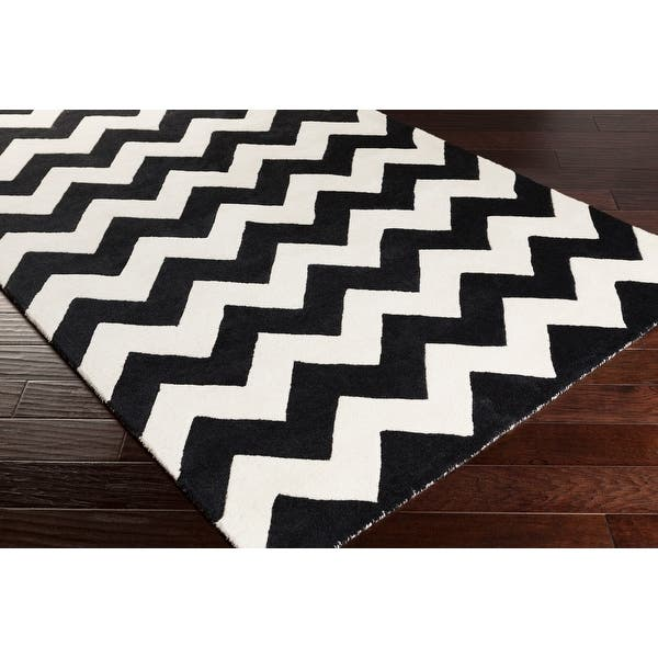 Hand Tufted Luci Chevron Wool Rug Overstock 9207882