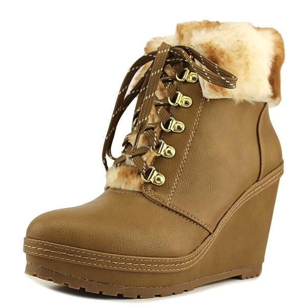 Nanette Lepore Malee Women Round Toe Synthetic Tan Ankle Boot