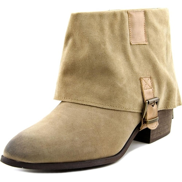 Olivia Miller Cypress Women Pointed Toe Synthetic Tan Ankle Boot