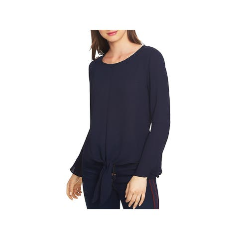 1.State Womens Blouse Tie-Front Bell Sleeve