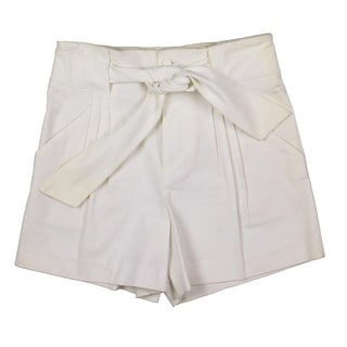 Catherine Malandrino Womens Twill Belted Dress Shorts - 4