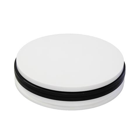 Trifecta Motorized 360 Degree Electric Rotating Turntable with AC 110 V, US Plug, 90S/R, 30 KG Capacity - White