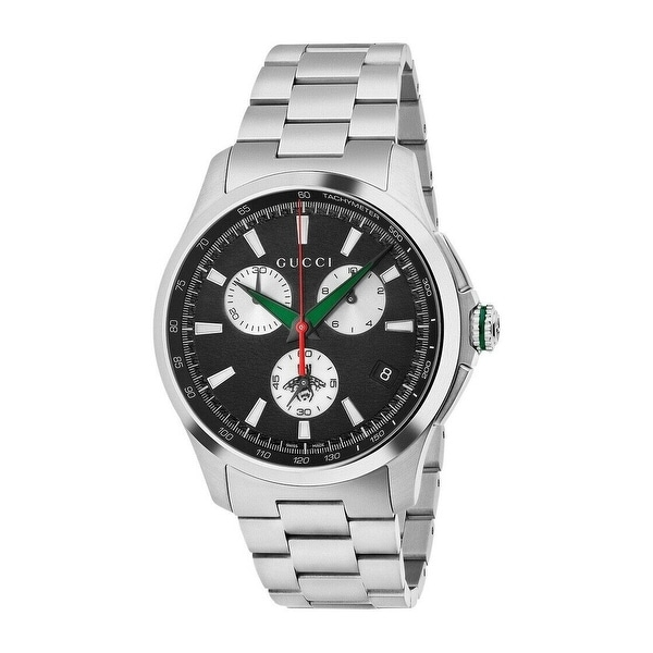 G-Timeless Chronograph Black Dial Men's Watch - N/A. Opens flyout.