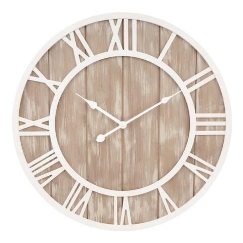 La Crosse Clock 404-3450 19.7-Inch Harper Wood Quartz Wall Clock